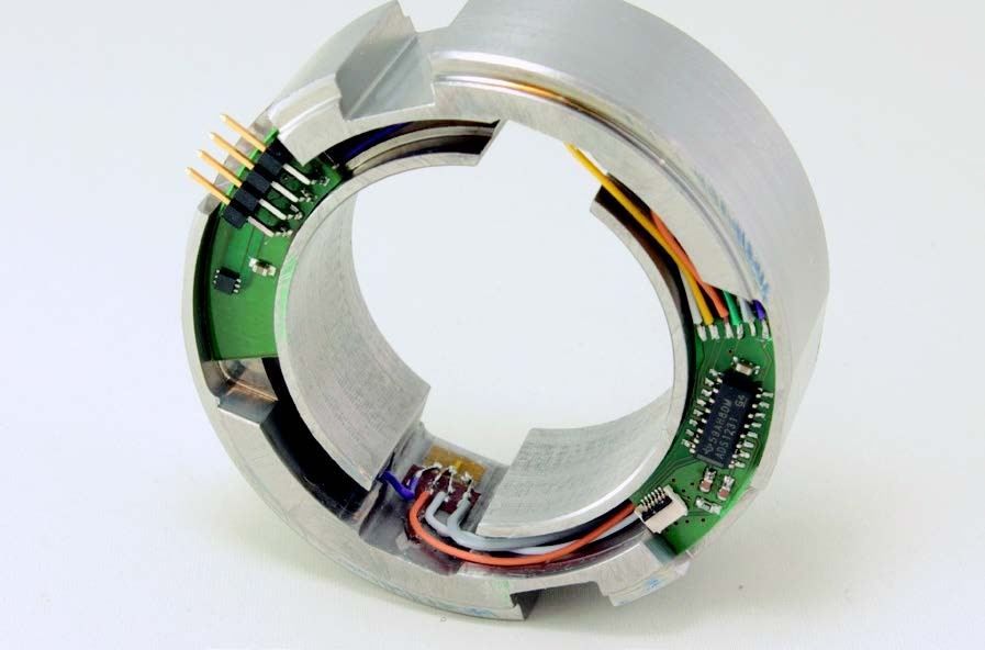 Sensor ring (with temperature / force sensors and interface electronics).